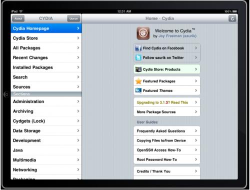 iPad-Cydia