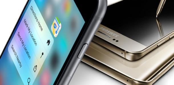Сравнение быстродействия Apple iPhone 6S Plus и Samsung